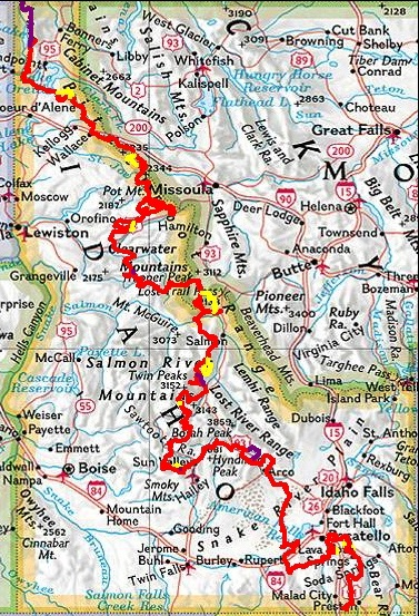 Pioneer Mountains Idaho Map.Motorcyclejazz Tour Of Idaho